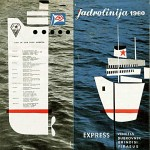 Jadrolinija Ferries Timetable from 1960