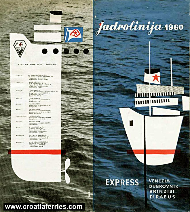 jadrolinija ferries timetable from 1960