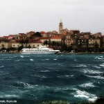 Jadrolinija's high-speed ferry Judita stranded in Korcula