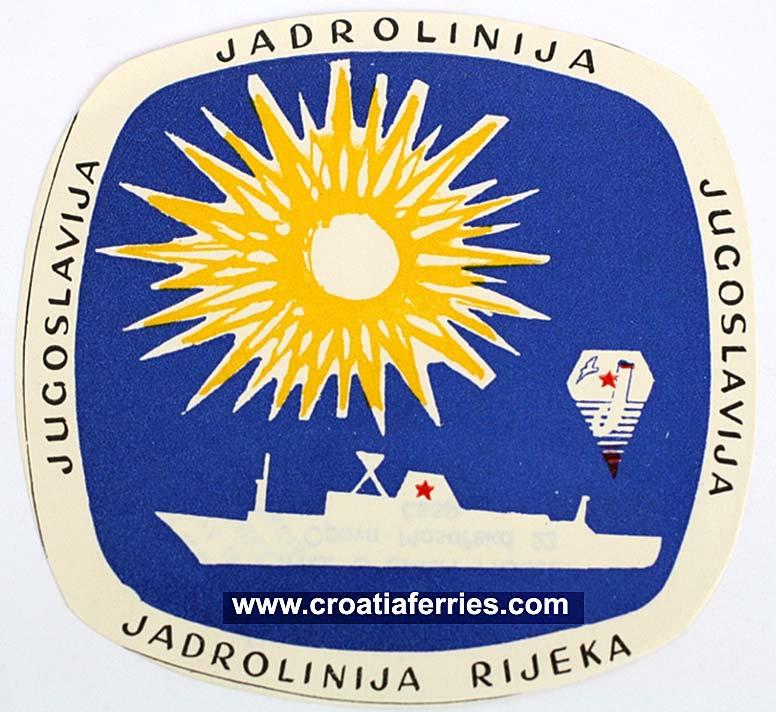 Jadrolinija Luggage Label from 1950s