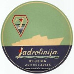 Jadrolinija Luggage Label from 1960s