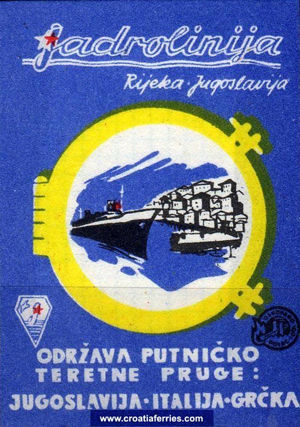 Jadrolinija Match box from 1960s