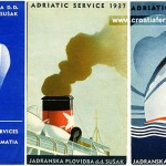 Jadrolinija's ferry schedules from 1937 and 1938