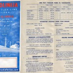 Jugolinija North America Brochure from 1950s