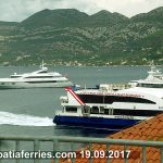 Catamaran ferry Krilo Star on route to Dubrovnik (19.09.2017)