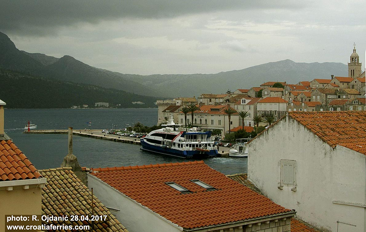 Ferry Krilo Star this morning in Korcula