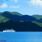 Liburnija Ferry passing by Mljet Island