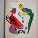 Ferry Liburnija Restaurant Menu in 1967