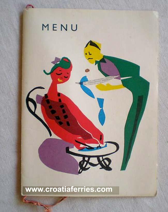 M/S Liburnija Restaurant Menu in 1967