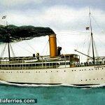 Steamship Parobrod 'Dubrovnik' in Korcula port (1937)
