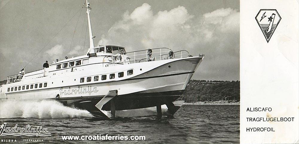 Hydrofoil Vihor In 1960s Croatia Ferries